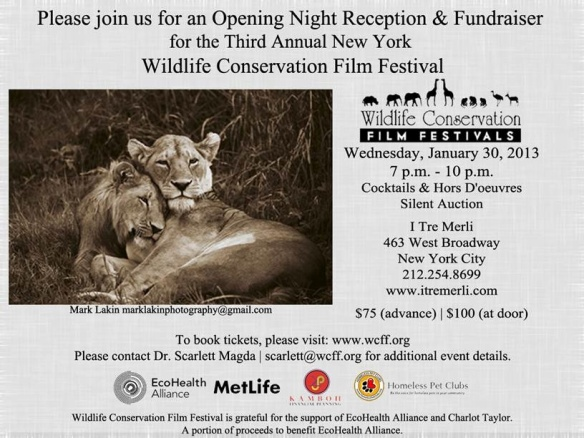 Please join WCFF for an Opening Night Reception & Fundraiser!