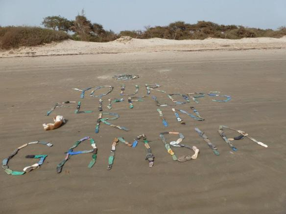 YOUR FLIPPERS ARE IN GAMBIA